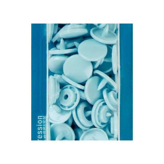 botón de presión redondo 12,4 mm. azul claro Prym 393120