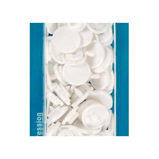 botón de presión redondo 12,4 mm. blanco Prym 393103