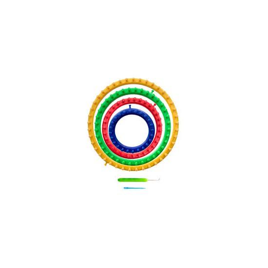 telar Circular para tejer. Set de cuatro telares. NADEL