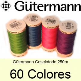 hilo coselotodo Gütermann 250 m. 60 colores